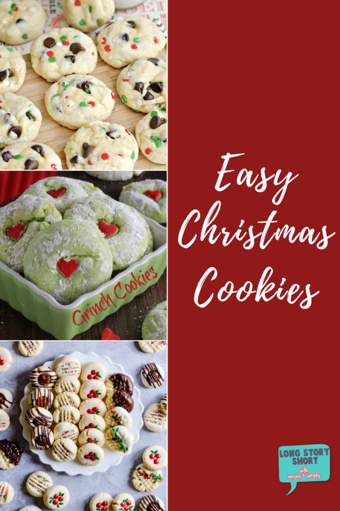 It wouldn't be the holidays without Christmas cookies. Here are 5 recipes for easy Christmas cookies perfect for parties or just because cookies are good.   #ChristmasCookies #CookieRecipes