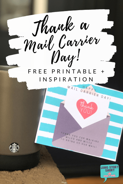 Thank Your Mail Carrier Day Printable