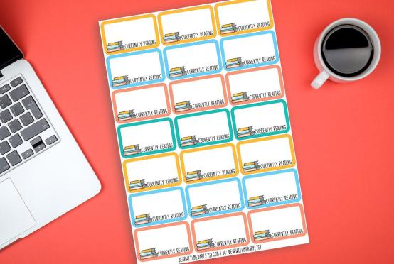 Currently Reading Stickers - Planner Stickers for Readers