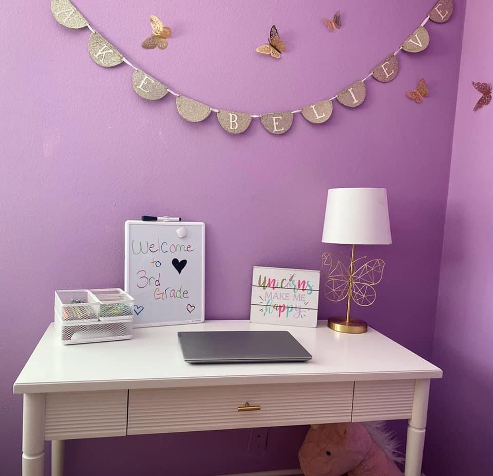 Welcome your student into their homeschool space with similar details they might see in a traditional classroom.