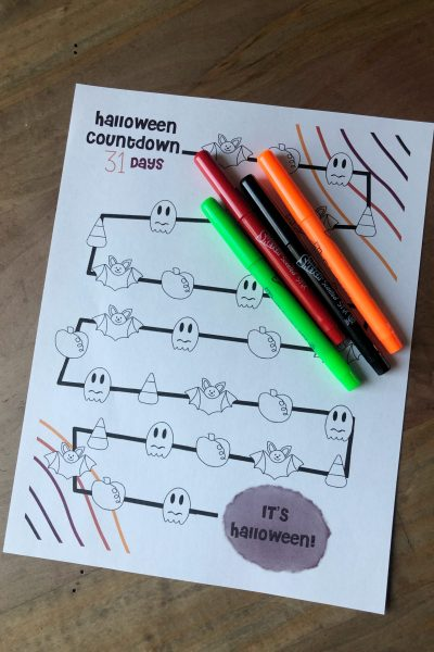 Download and print our free Halloween Countdown Coloring Page. Exclusively made for our blog. Let your kiddos unwind with some fun Halloween coloring.