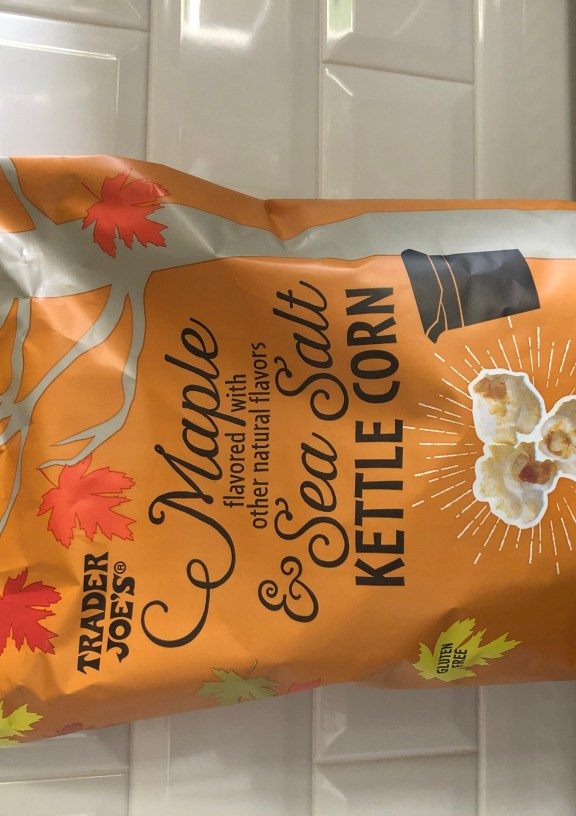 New for 2020! Trader Joe's Maple and Sea Salt Kettle Korn is a perfect fall snack! #TraderJoes #TJFall