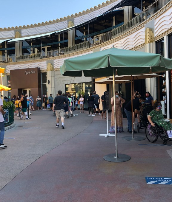Expect lines to enter most of the popular retail stores, this includes Disney Home Store, World of Disney, Sephora and others. | What to Expect at Downtown Disney during Covid