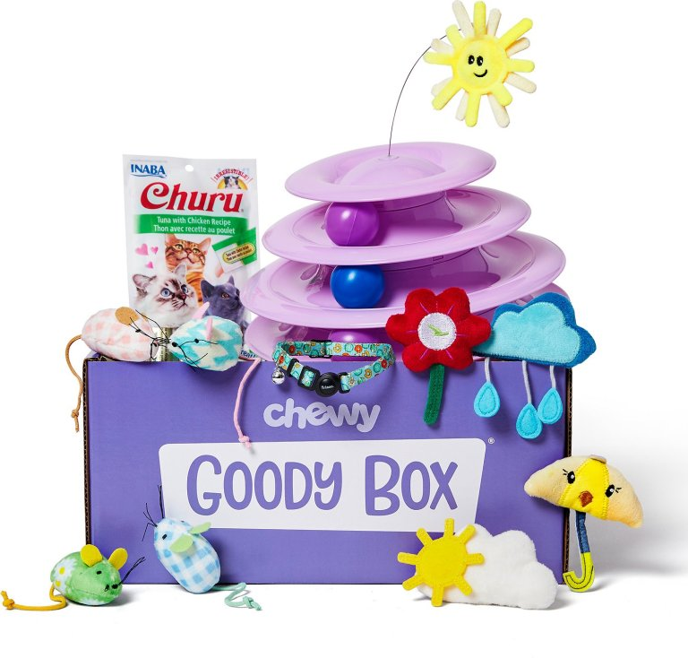 Chewy.com Goody Box for cats is a one-time, no subscription box.
