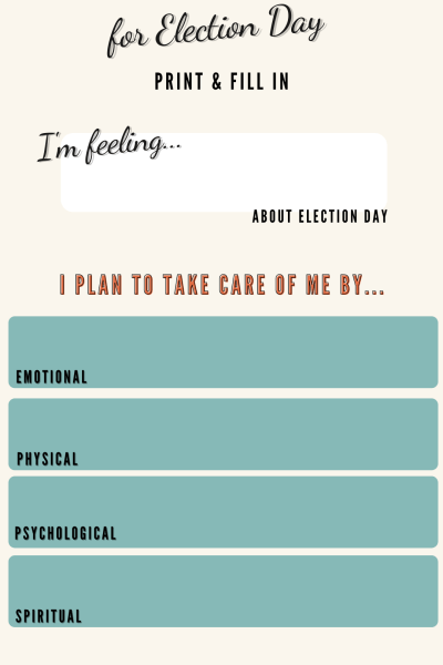 Exclusive self care printable. Start making a solid action plan on how to make time for some self care during an election cycle.