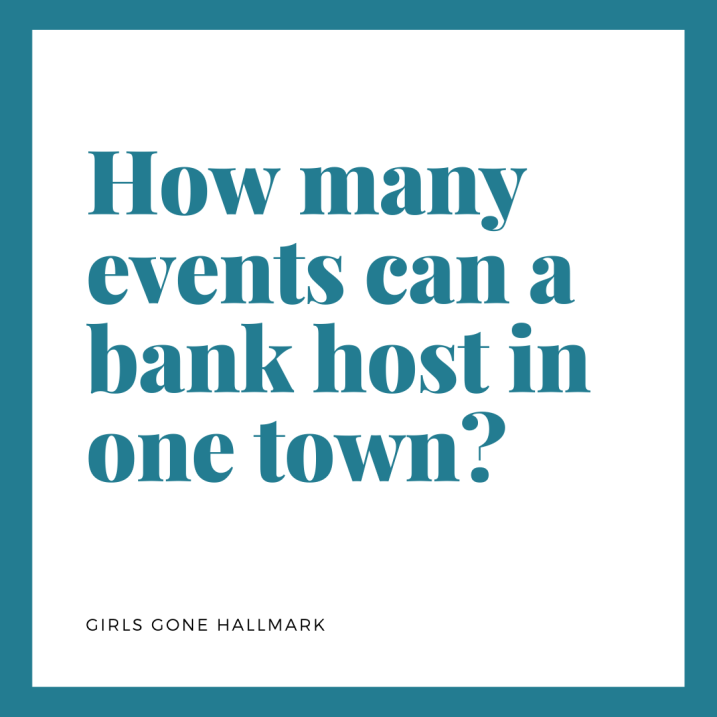 We must know how many events does your local bank sponsor?