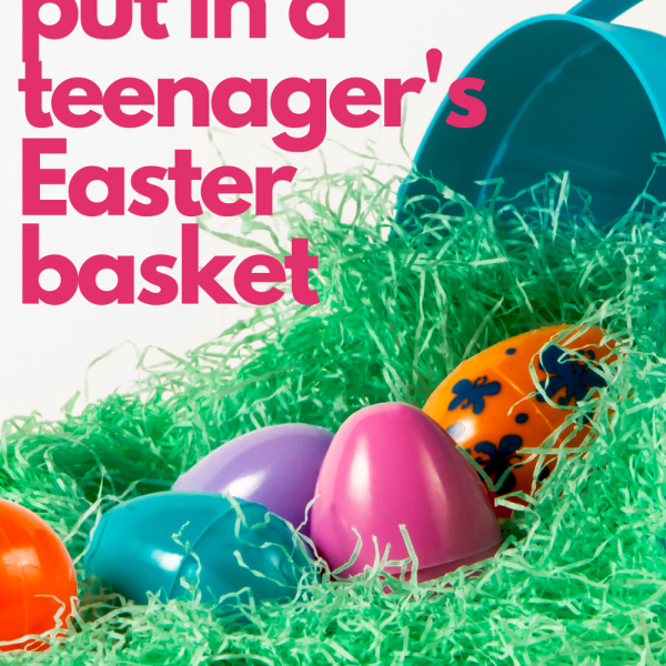 Easter Basket Ideas for Teenagers - What to put in your teen's Easter Basket! We've got ideas including snacks, books, socks, accessories, non-screen activities and even electronics!