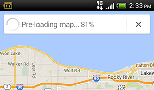 Pre-loading Google Map
