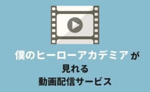 『僕のヒーローアカデミア』のアニメが見れるサービス(動画配信・宅配レンタル)