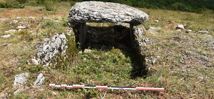Visite des fouilles au Dolmen de Pech Laglaire