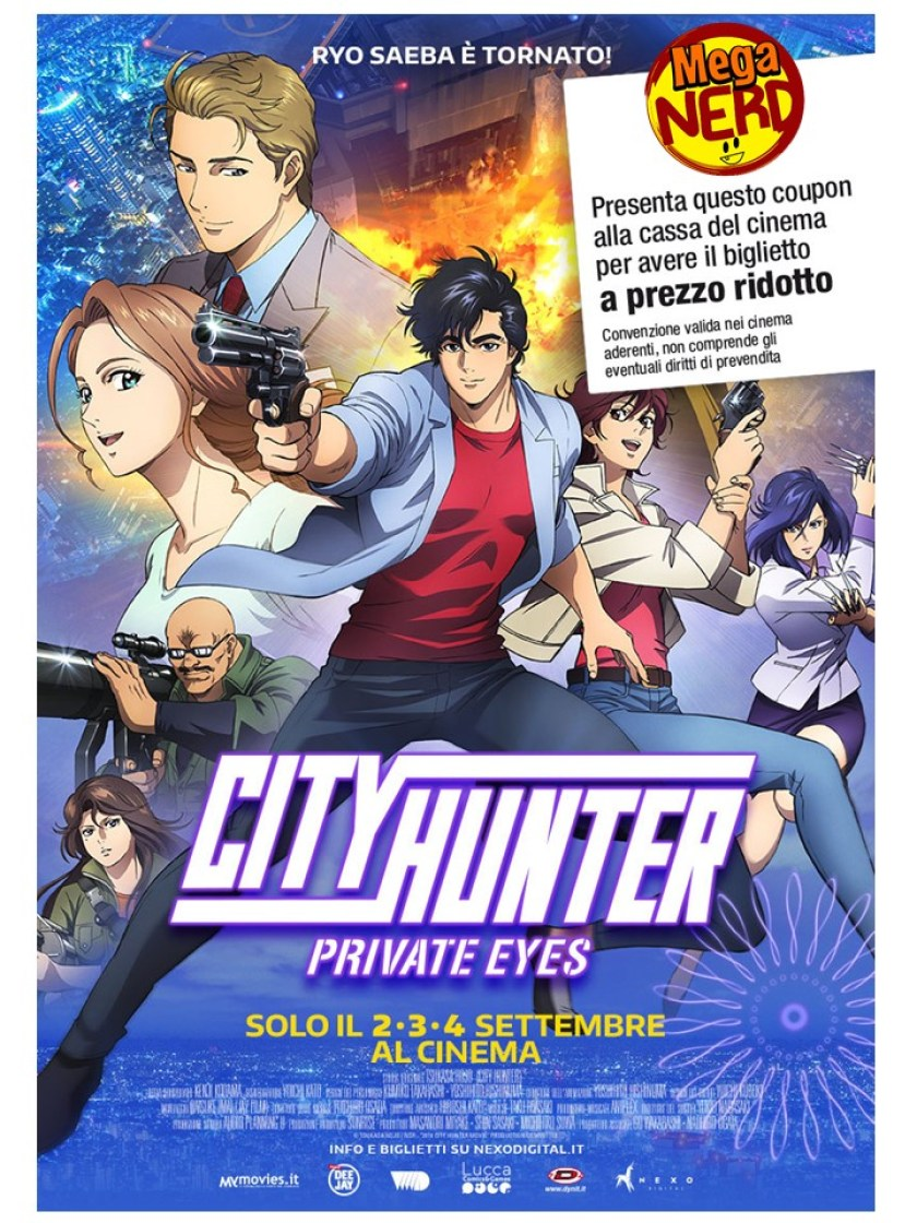 City Hunter – Con MegaNerd stampi il coupon e vai al cinema con lo sconto