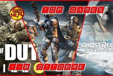 Top Games 1-8 Ottobre evidenza