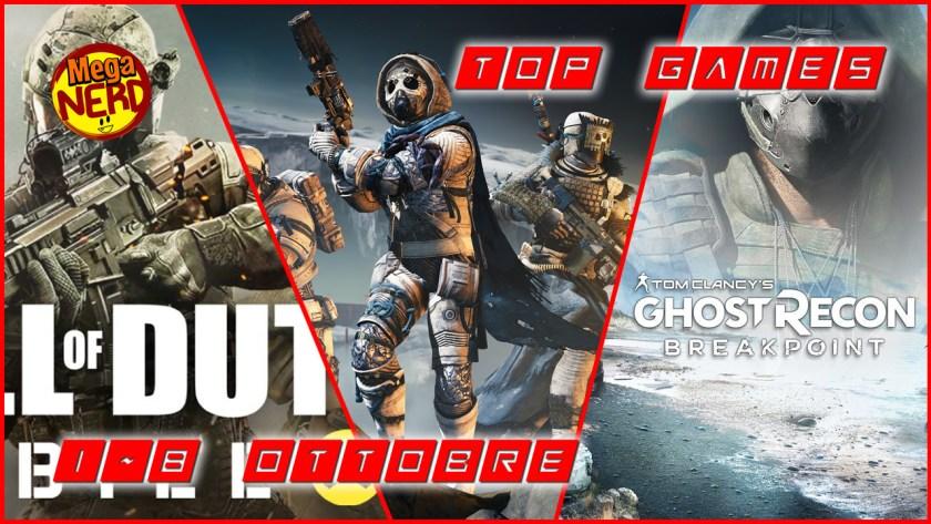 Top Games 1-8 Ottobre
