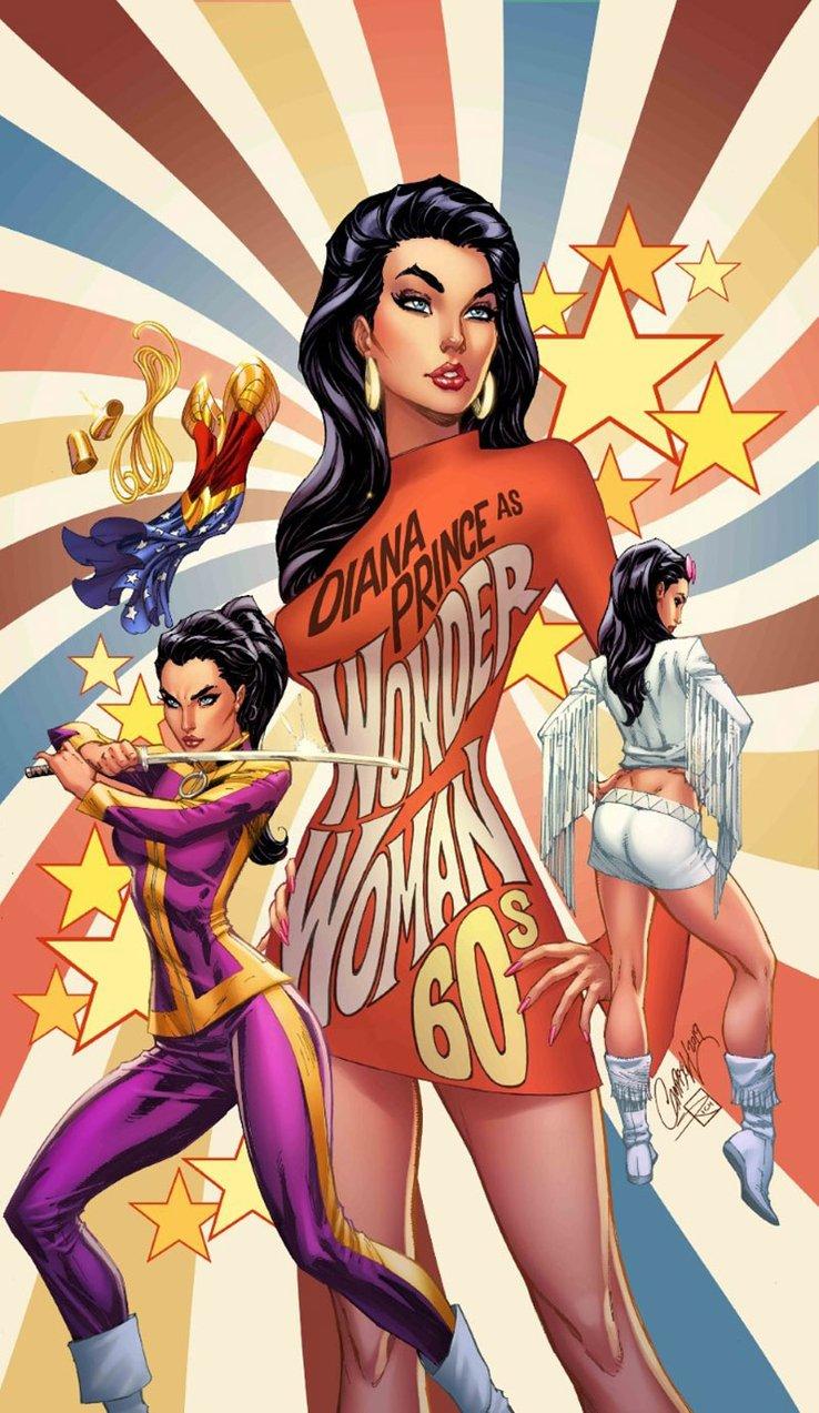 Wonder Woman #750, variant cover di J. Scott Campbell