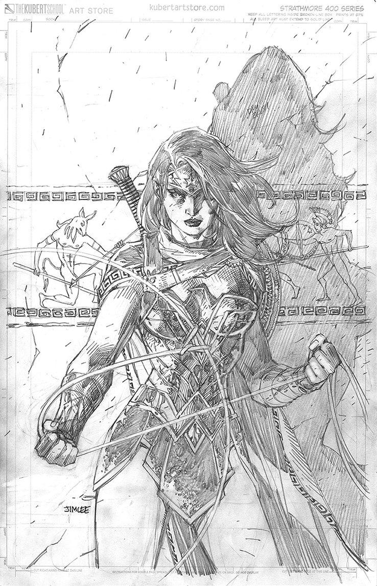 Wonder Woman #750, variant cover di Jim Lee