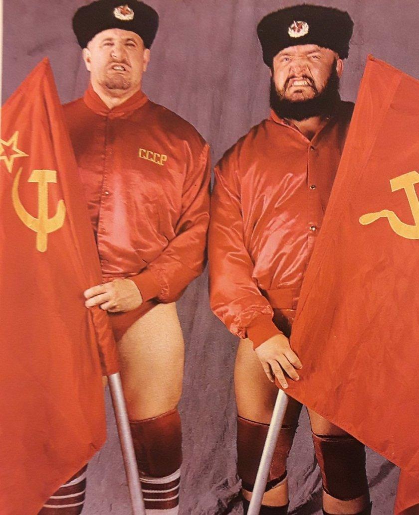 Nikolai Volkoff e Boris Zukhov nel tag team Bolsheviks