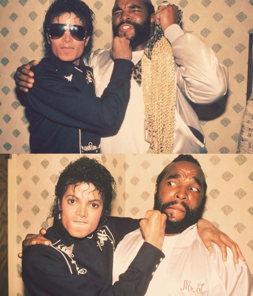 Michael Jackson e Mr. T