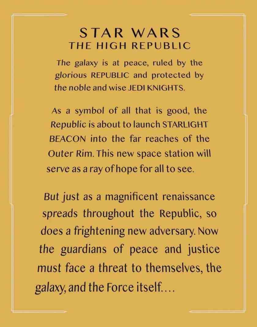 Star Wars the High Republic Apertura