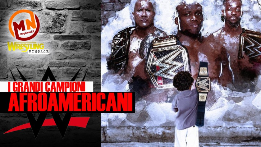 copertina wrestling vintage campioni afroamericani
