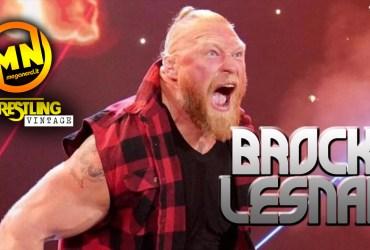 copertina wrestling vintage brock lesnar