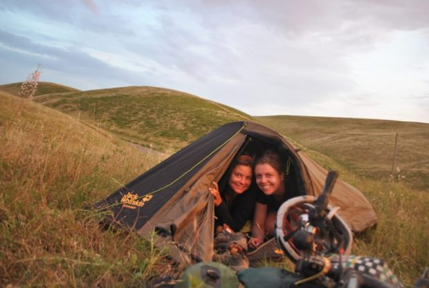 Against all odds, sharing a one-person tent was awesome...almost always.