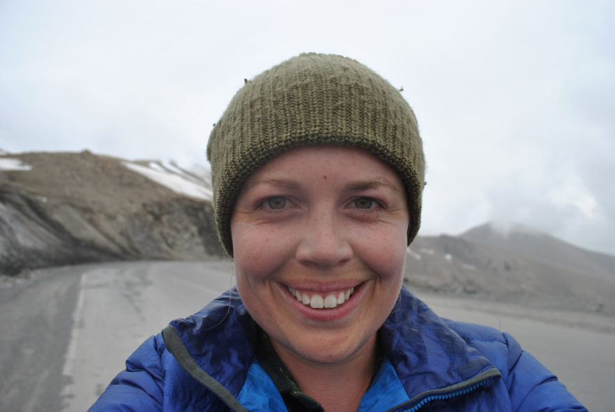 Me in my toque on a high mountain pass in Kyrgyzstan