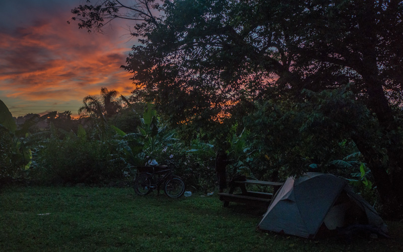 sunrise in a lush campground in Siteki, eSwatini (Swaziland)