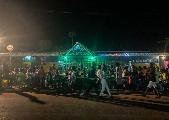 new years day 2019 streetside bars in dolisie congo brazzaville