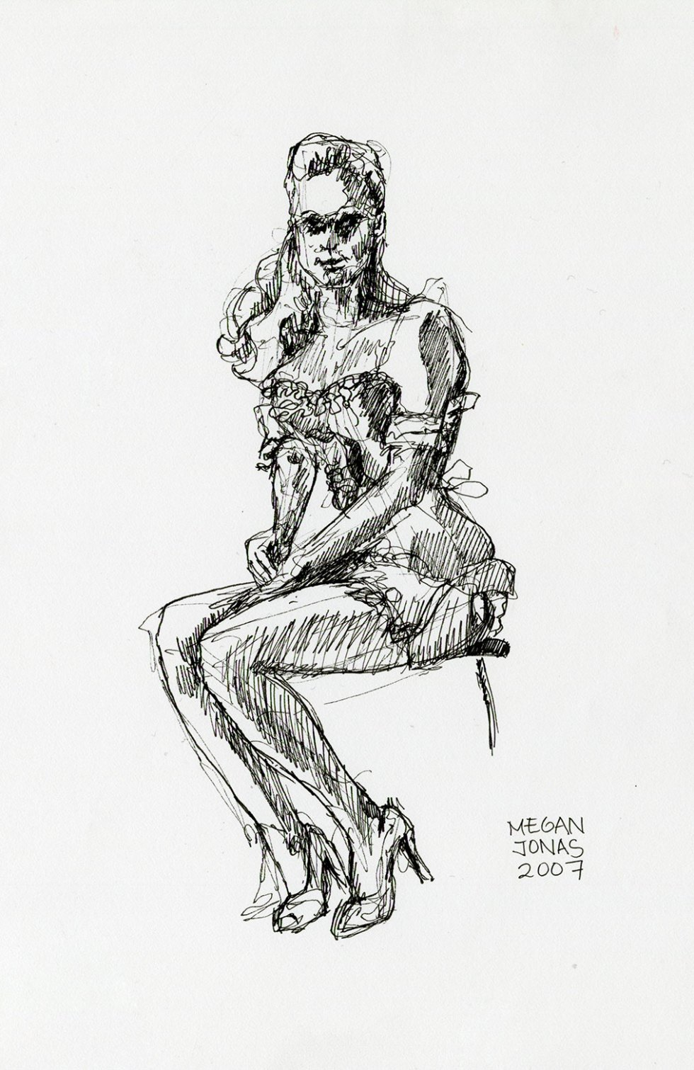 2007 Dr. Sketchy's London, Candy Cane