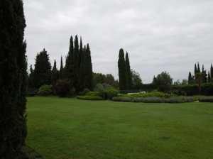 French villa garden