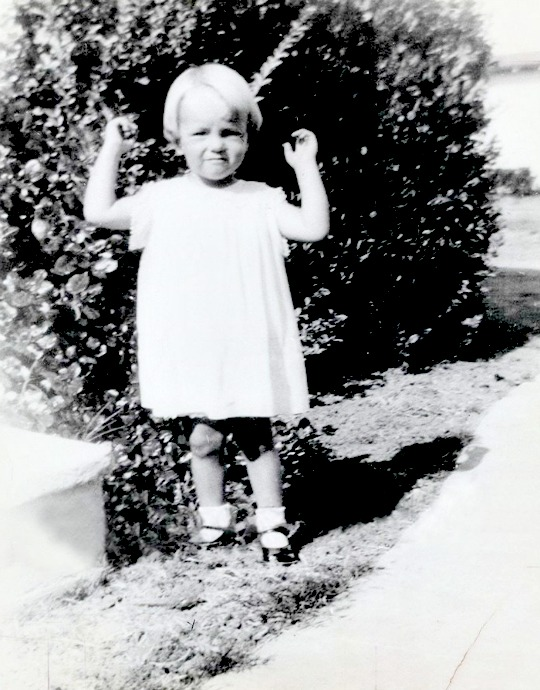 Norma Jeane Baker in 1928.