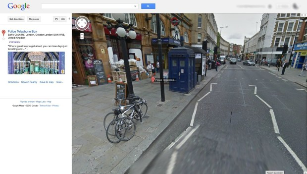 The Tardis on Google Maps