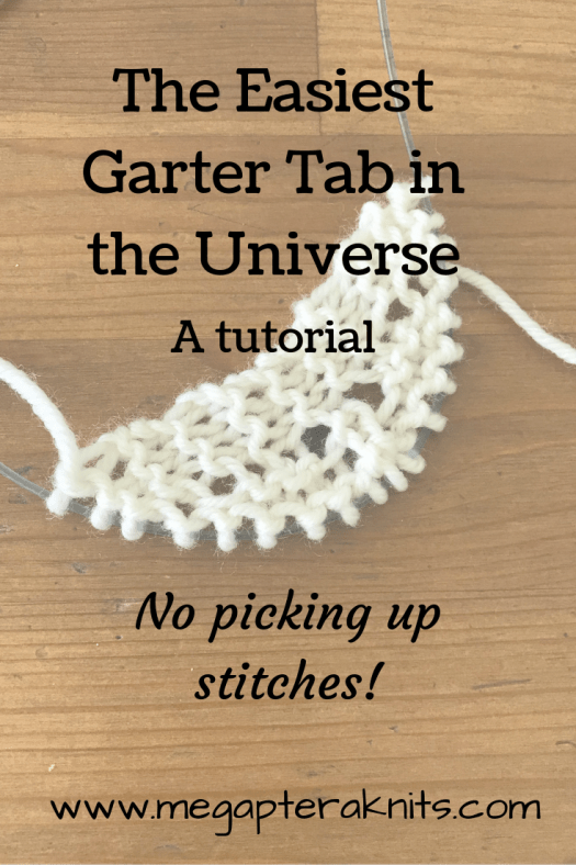 knitting garter tab wool yarn needles