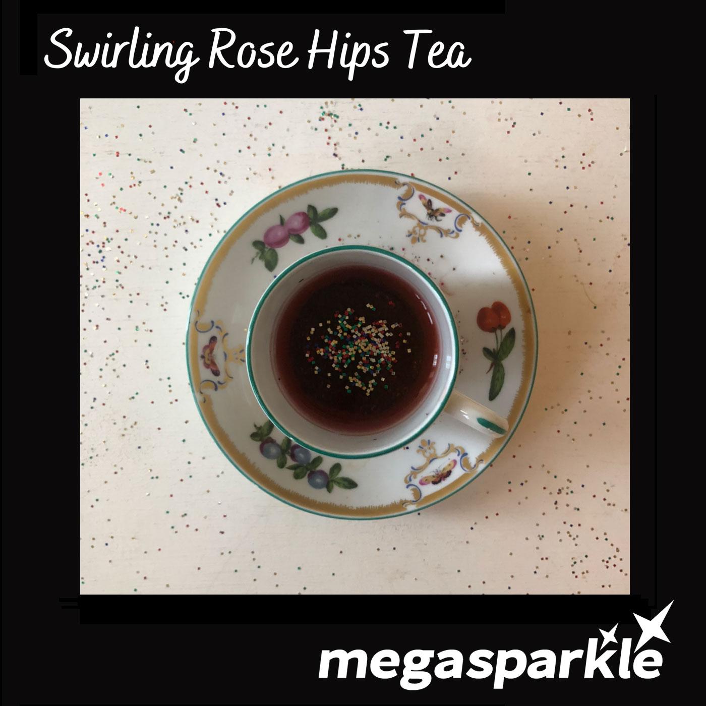 Swirling Rose Hips Tea