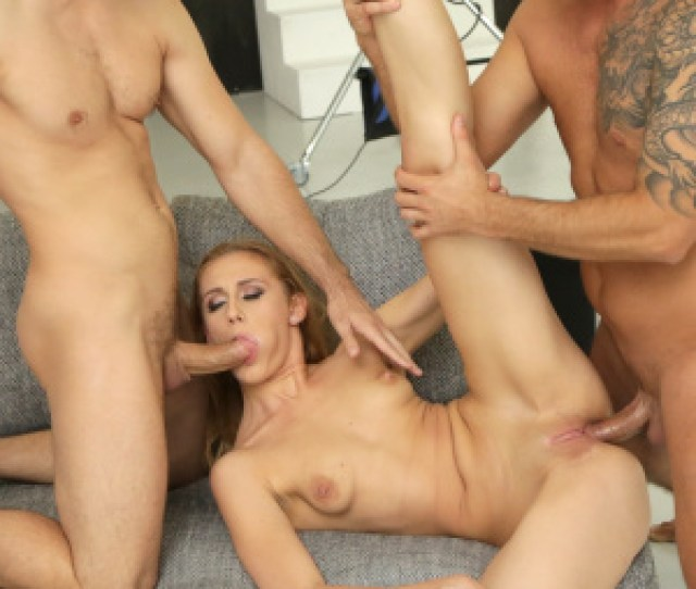 Slim Blonde Linda Leclair Keeps In Itself Two Cocks And Gets Anal Sex