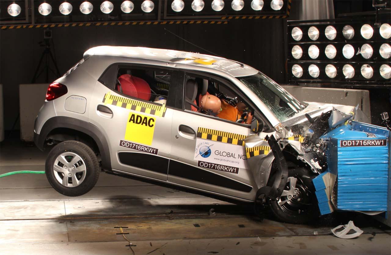 Renault Kwid: cero estrellas en pruebas de choque