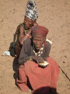 Blind and old Bushmen