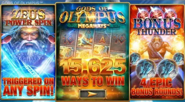 play gods of olympus megaways