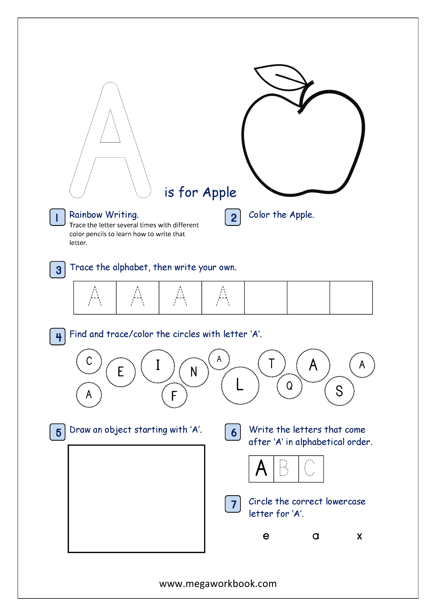 Printables Of Letter Activity Sheets