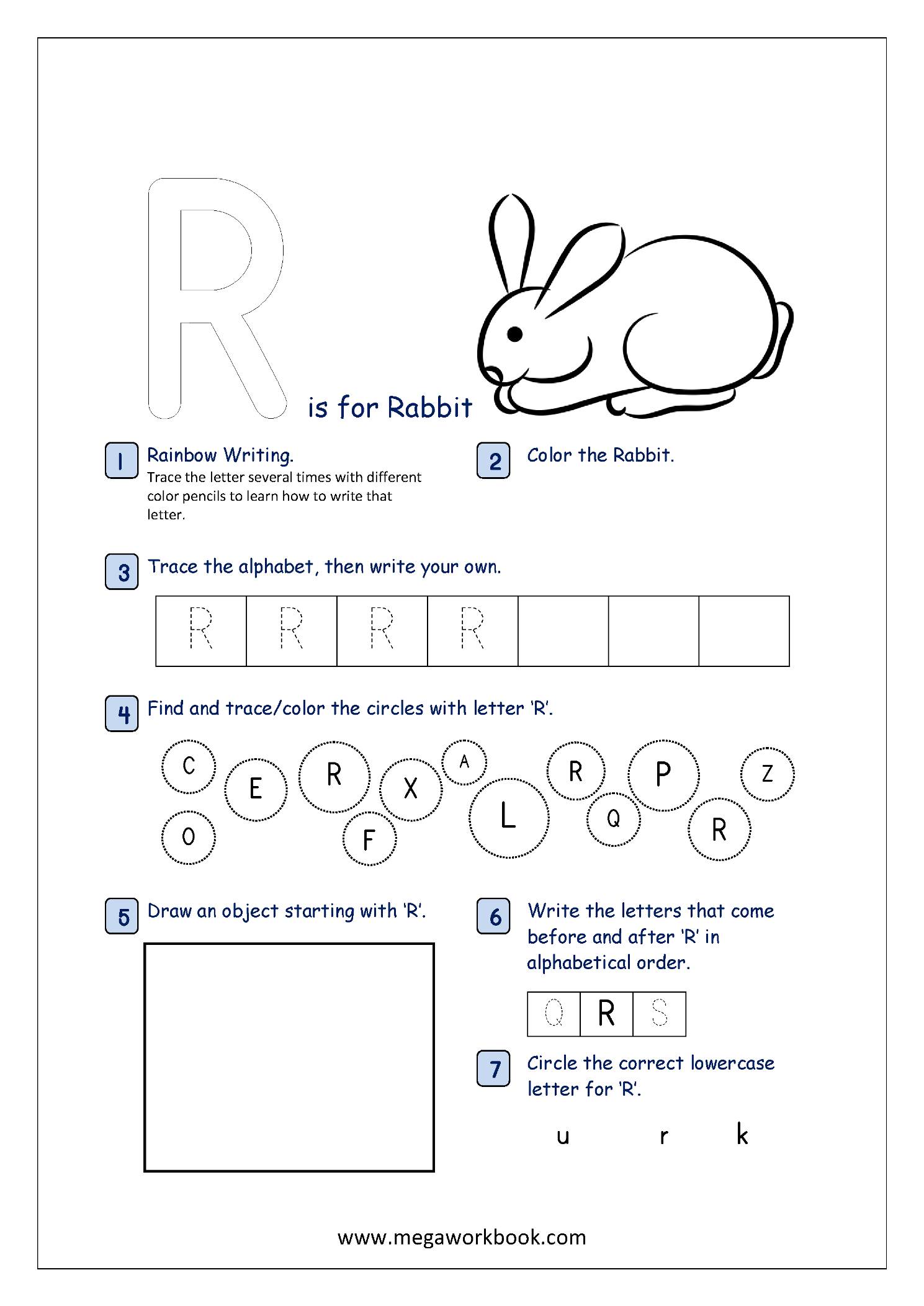 Free Printable Alphabet Recognition Worksheets For Capital Letters
