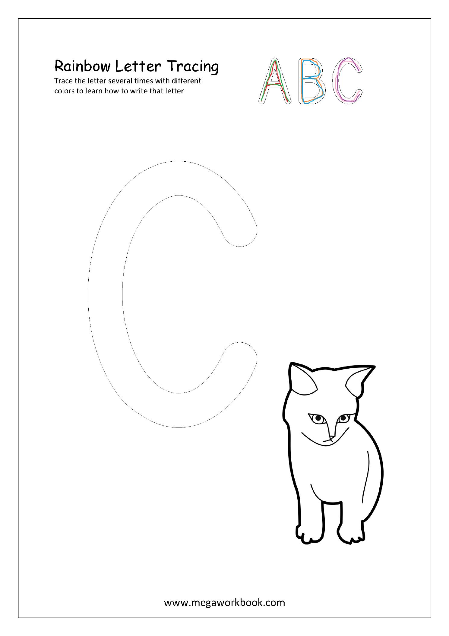 Free Printable Rainbow Writing Worksheets