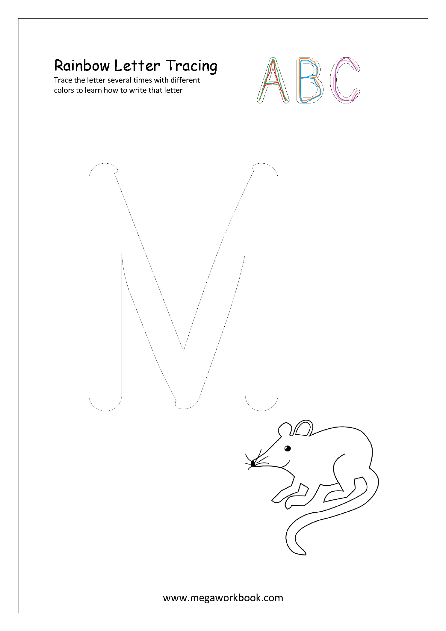 Free Printable Rainbow Writing Worksheets