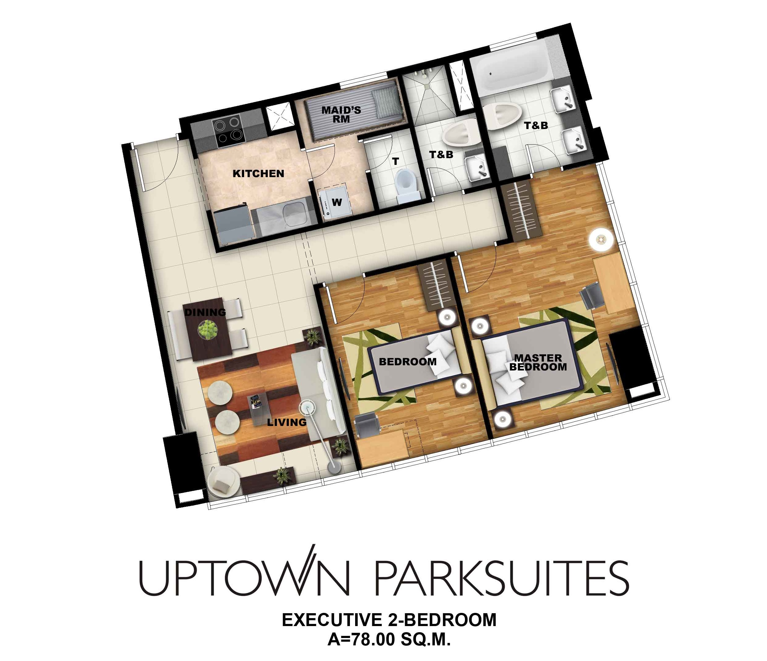 Uptown parksuites 2 bedroom executive