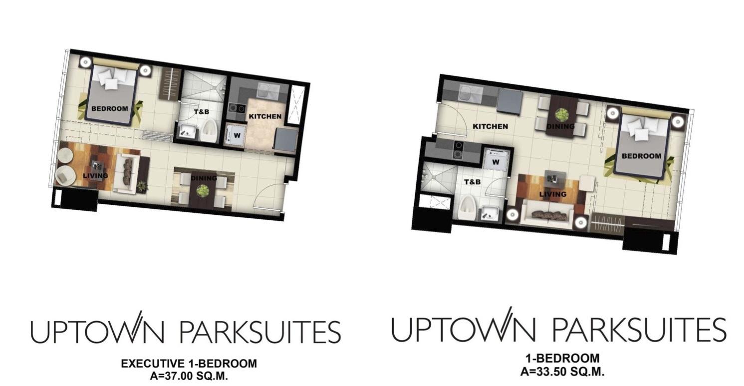 Uptown Park Suites-1BR floorplan