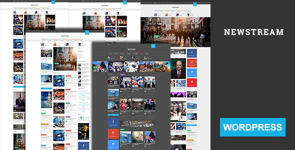 Newstream – Magazine & Blog Bootstrap 3 Responsive WordPress Theme