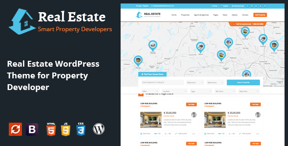 Real Estate IDX Property Booking Real Estate and Rental WordPress Theme