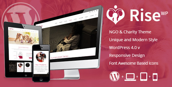 Rise – NGO and Charity Responsive WordPress Theme