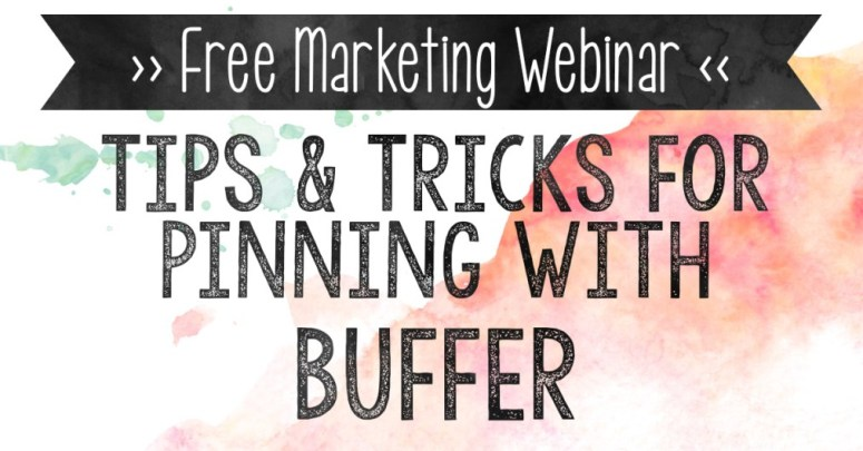 Not sure about switching to Buffer for your Pinterest scheduling? Want to see it in action before taking the dive? Or you're confused on how to use it? This webinar covers all the tips and tricks for pinning with Buffer.