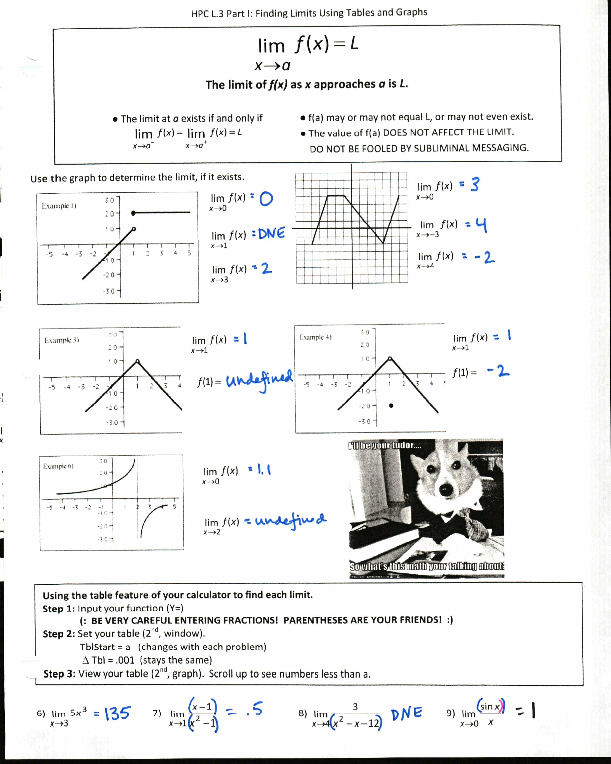 Worksheet Limits At Infinity Worksheet Worksheet Fun
