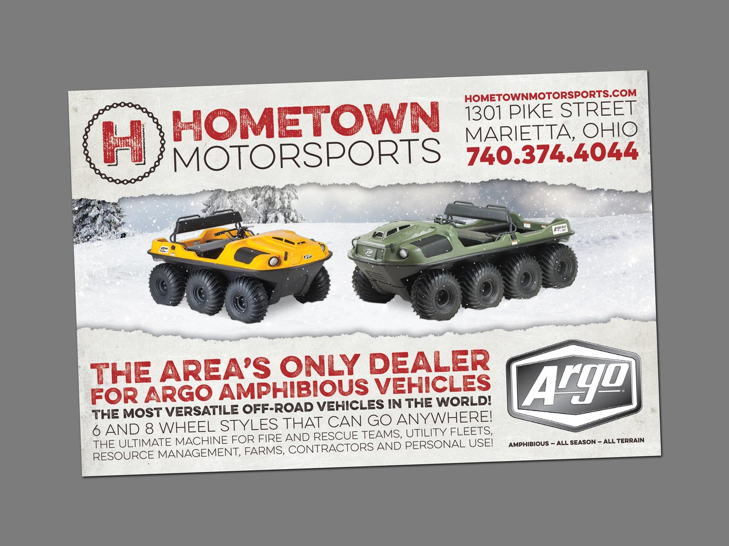 Hometown Motorsports Ads